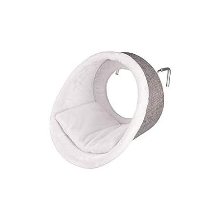 Trixie 43144 Hängehöhle für Heizkörper, rund, ø 38 × 34 cm, weiß/grau