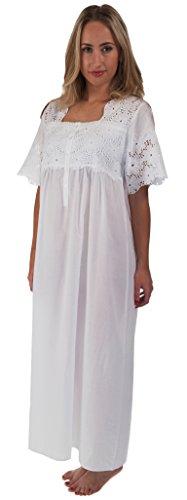 The 1 for U 100% Cotton Short Sleeve Ladies Nightdress 6 Sizes - Elizabeth