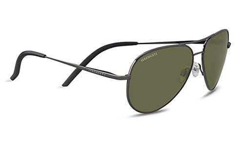 Serengeti Eyewear Erwachsene Carrara S Sonnenbrille, Shiny Gunmetal, Small