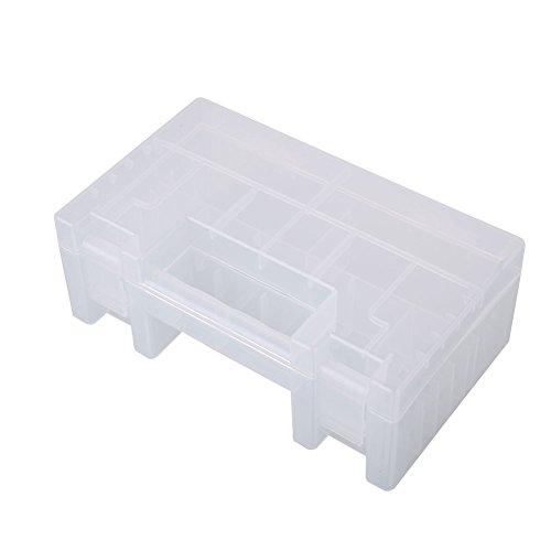 Kicode Batterie-Speicher stapelbare Organizer Box Klappdeckel Für AA AAA C 9-Volt-Größen für Küchen Büros (Farbe Kunststoff-lagerbehälter)