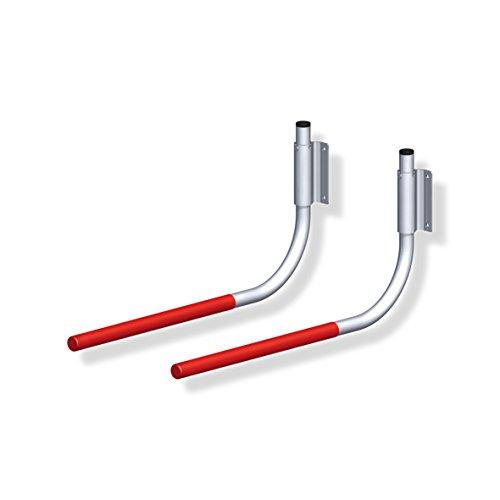 Preisvergleich Produktbild 1 Paar GedoTec® Profi Fahrradhalter Fahrrad-Haken klappbar gummiert 550 x 270 mm | Tragkraft 30 kg | Fahrradhalterung für die Wandmontage | Markenqualität für Ihren Wohnbereich