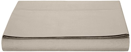 AmazonBasics - Sábana encimera (polialgodón 200 hilos) Gris - 240 x 320 + 10 cm