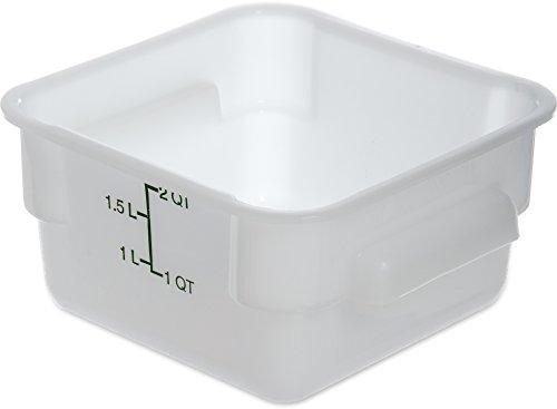 Carlisle storplus stapelbar quadratisch Frischhaltedosen, 2-22Quarts, weiß, 2 Quart, weiß, 6 Storplus Food Storage Box