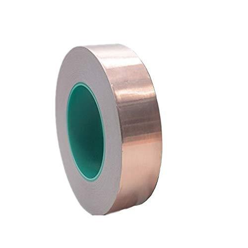 25m Abschirmband Kupferfolie,Selbstklebend Klebeband Kupferband Copper Foil Tape für Anti-Wurm Schutz der Elektronik und des Gartens (15mm) (15MM*25M)