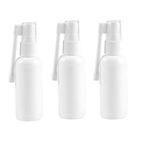 SUPVOX 10 Stücke Sprühflasche Pumpzerstäuber Sprühflasche Nasenspray Flasche Mit Cap Feine Nebel Leere Sprühflaschen 20 ml (Weiß)