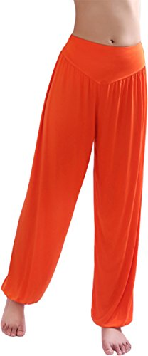 Hoerev® super doux spandex modal pantalon harem yoga / pilates Orange