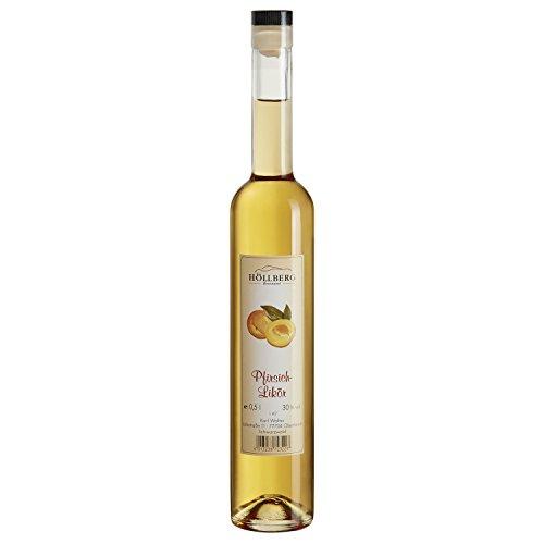 "Pfirsich-Likör""Höllberg"" 30% vol, (1 x 0.5 Liter) edler Fruchtlikör ohne Aromastoffe"