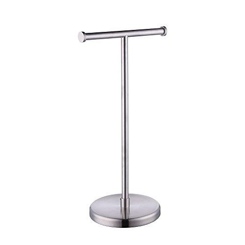 KES SUS304Edelstahl Badezimmer WC Stand-WC Papier Halter und Spender, freistehend, bph280-p, edelstahl, Brushed Finish, 2-Roll (Messing-freistehende Papier-handtuch-halter)
