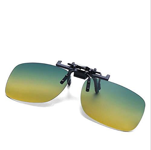 GFLD Sonnenbrille Herren Clip rechteckig polarisierten Clip Herren polarisierten Sonnenbrillen Fahrerspiegel Gläser Clip