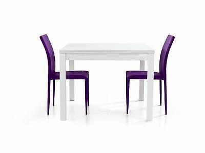 fashion commerce FC559 Table à rallonge en Bois, Blanc, 90 x 90 x 76 cm