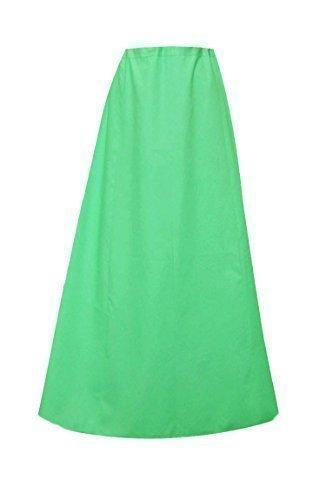 Donna Indian Sari Cotone pronti sottoveste o con cuciture Sottogonna in un'unica taglia 022 Vert Mer