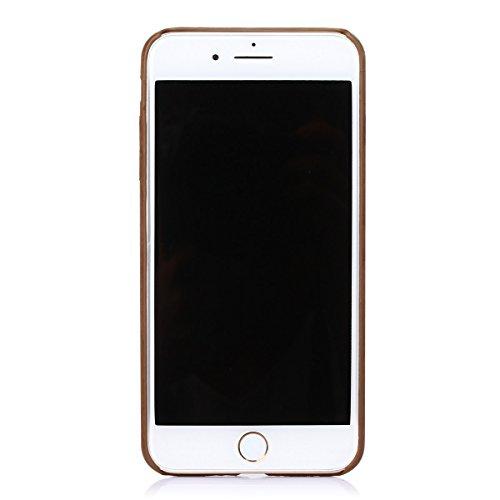 iPhone 7plus Coque,Fodlon® Mode Bois Grain Doux TPU pour téléphone Housse -Light rouge