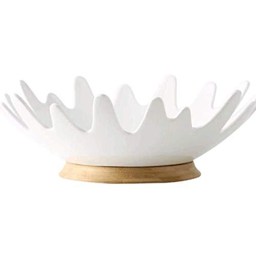 CUJUX Obstschale - Keramik Haushalt Obstkorb Snack Getrocknete Früchte Speicher-Korb Kreative Moderne Wohnzimmer Obstschale -