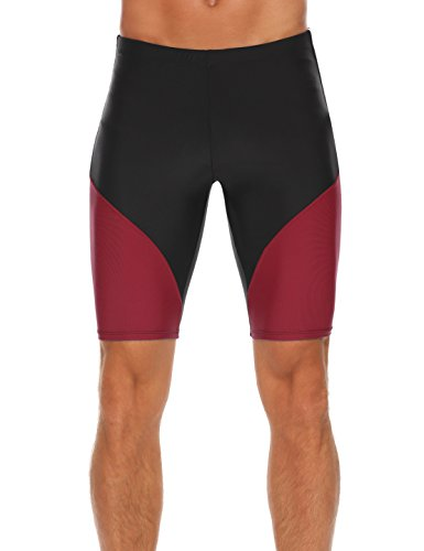 UNibelle Herren Schwimmen Badeshorts Badehose Slim Wear Swim Shorts Sommer Rot 38 XXL (Schwimmen-profil Kurze)