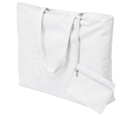 eBuyGB Strandtasche, weiß (Weiß) - 1247306 (Beach Bag Purse)