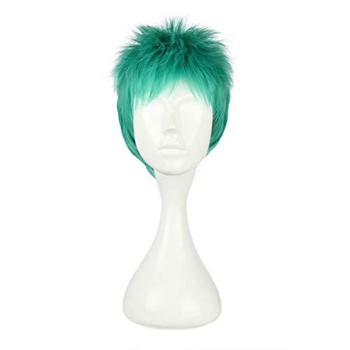 COSPLAZA Cosplay Perücke grün kurze stachelige flauschige kurze Haare Mann Junge Film TV-Show Manga Charakter spielen Kostüm Perücke (Film Tv Show Halloween Kostüme)
