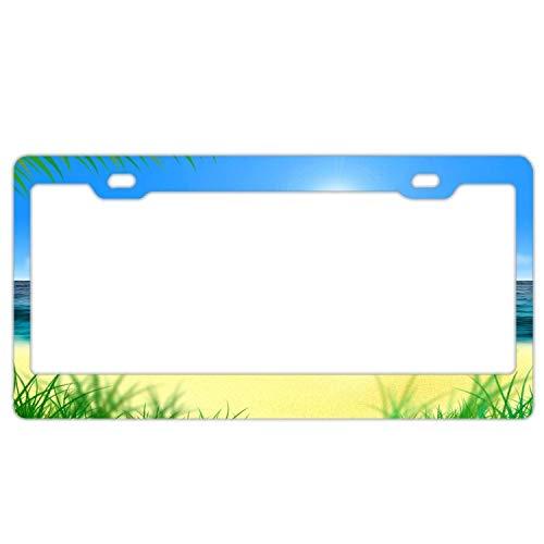 YEX Kfz-Kennzeichenhalter, wasserdicht, für den Sommer, Strand, Sonnensegel, 30,5 x 15,2 cm