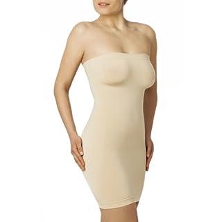 SLEEX Figurformendes Damen Miederkleid - Traegerlos (44026) - Hautfarben, Groesse L/XL