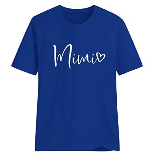 Oyedens T-Shirt Teenager Mädchen, Oberteile Damen Große Größen Elegantmimi T-Shirt Mädchen Tennager Damen Brief Print Top Kurzarm Bluse Topshemd Damen