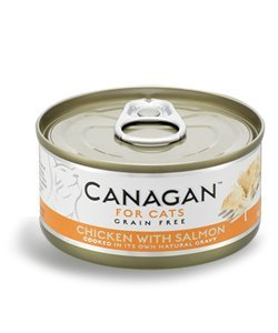 Canagan for cats cibo umido per gatti grain-free da 75 gr - pollo con salmone - chicken with salmon