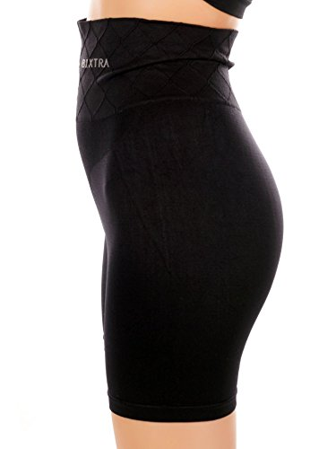 Bixtra Miederhose mit Beinansatz - Bauch-weg-Effekt - figurenformend Miederpants Unterwäsche - Seamless Shapewear, 4146731 Schwarz