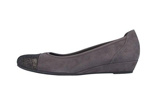 GABOR comfort keil-gris-escarpins femme à matelas grande tailles de chaussures Gris - Gris