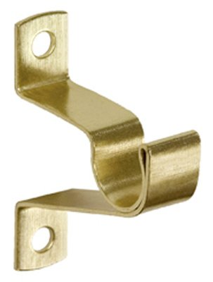 KENNEY MFG CO - Caf Curtain Rod Bracket, Brass, 3/4-In. Clearance