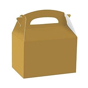 Amscan International-997412partido caja de alimentos, color dorado
