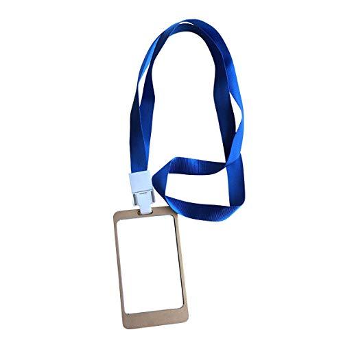 YARONGTECH Ausweishalter Badge NEU Aluminium Legierung Mitarbeiter mit Lanyard (5 Stück)
