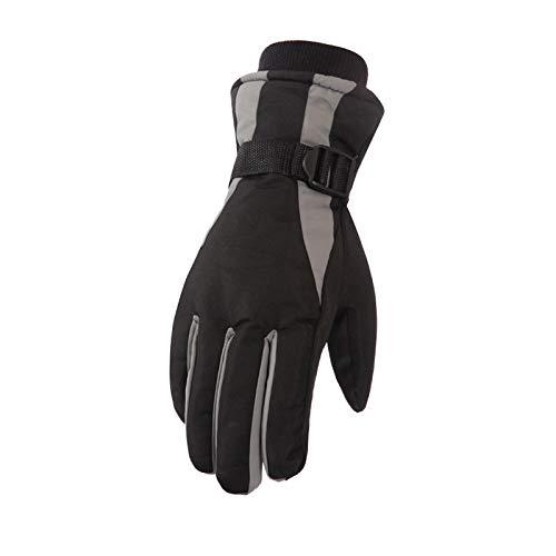 AmDxD Damen Dick Winddicht Handschuhe Outdoor Reithandschuhe Winterhandschuhe Skihandschuhe Hell Grau Handschuhe - Strass Damen Handschuh