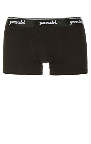 Yazubi 4er Pack Herren Basic Boxershorts Unterhose Travis 4pack black 1001