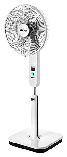 Unold STAND FAN Standventilator, drinnen und draußen, Lithium-Ionen Akku, inkl. USB-Ladekabel, 6-stufige Geschwindigkeitsregelung, 86870, 30 W, Weiß