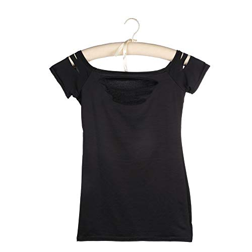 DGdolph Mujeres Ripped Camisetas Top Cutout Clubwear Cut out tee...