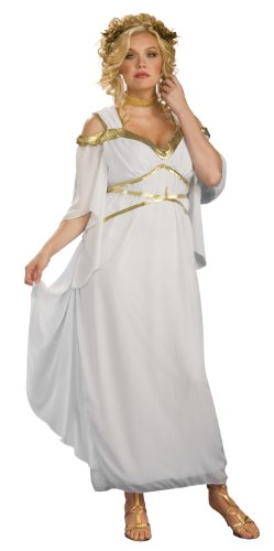 Rubies Costume Co Roman Goddess Costume, White, Full Figure (disfraz)