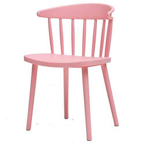 Moderner Umweltfreundlicher Plastikseiten-Stuhl, Praktischer Duschstuhl, Akzent-Tabellen-Ende, Das Stuhl For Büro, Küche, Studie, Schlafzimmer, Badezimmer, Im Freiengarten Speist ( Color : Pink ) (Akzent-stuhl-tabellen)