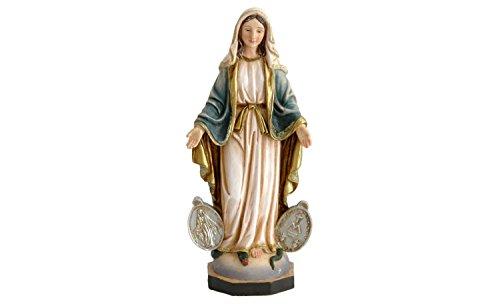 Lote de 2 figuras Virgen de la Medalla Milagrosa 20 cm