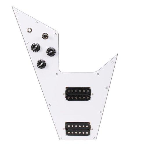 V-gitarre Bei Flying (Weiß 3 lagig vorverdrahtet Pickguard für Gibson geladen Flying V Gitarre)