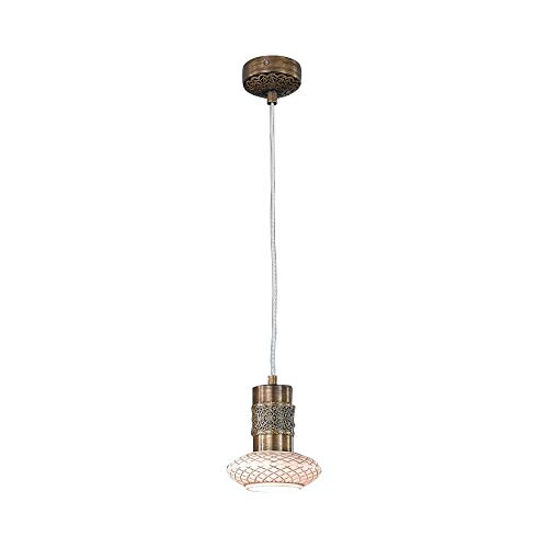 Diamante Decke (LA LAMPADA - DIAMANTE Aufhängung , Decke lampe Klassische und Moderne in der Keramik, Bronze)