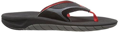 Reef Slap II Synthétique Tongs Black-Red-Grey