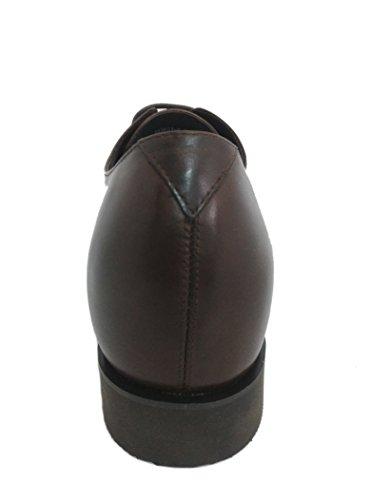 Zerimar Chaussures Réhaussantes Intérieur Pour Messieurs Augmentation + CM Cuir Cuir, Respirant, Confortable Marron