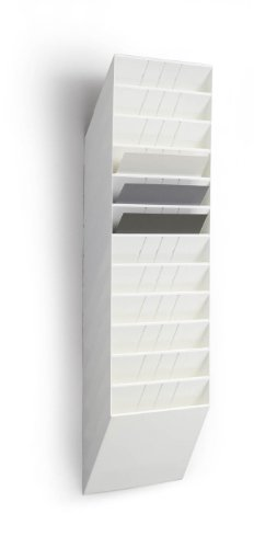 DURABLE - Flexiboxx 12 A4 Orizzontale, espositore da parete, f.to A4 orizzontale, 12 comparti, 348x1140x95 mm, bianco (cod. #1709781010)