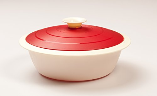 Cutting Edge Daffodil Vanilla Serving Dish, Set of 1, 1.8 Litre, Blossom Red  available at amazon for Rs.199