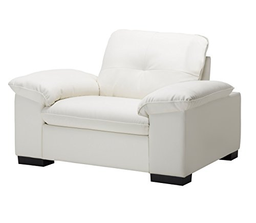 Amey Art Leather Sofa 1 Seater in white PVC
