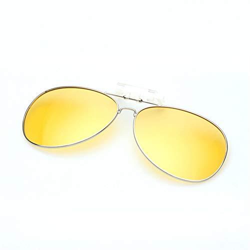 YLNJYJ Sonnenbrillen Polarisierte Klipp Auf Sonnenbrille Männer Frauen Pilot Sonnenbrille Clip Myopie Nacht Fahren Männliche Brillen