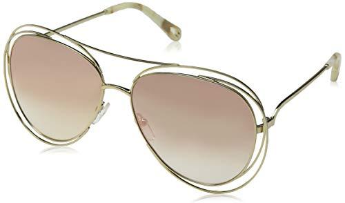Chloè Damen Ce134s Sonnenbrille, Gold/Marble/Revo Rose PEA, 61