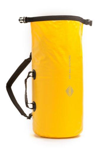 20L Wasserdichter Rucksack Trockentasche - Aqua Quest Mariner 20 - Kajak und Boot Tasche mit Rollverschluss, Verstellbar für Männer & Frauen - 20 L - Gelb oder Schwarz gelb