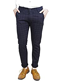 AOLOPY-9 Men's Cotton Checkered Trouser
