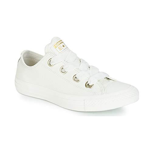 Converse Damen Chuck Taylor CTAS Big Eyelets Ox Sneakers Mehrfarbig Vintage White 103, 40 EU