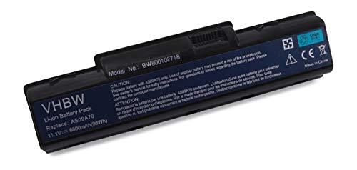 vhbw Batterie LI-ION 8800mAh 11.1V Noire pour Acer eMachines D520, D525m D725, G525, G625, G627, G630, G725, E430, E525, E625, E627, E630, E725