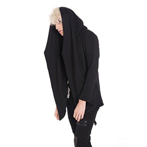Pizoff Herren Hip Hop High Street Fashion Lang geschnittenes Trägershirt Y1562-Black